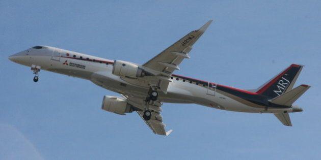 MRJが初飛行、国産初のジェット旅客機が大空に羽ばたく【UPDATE】