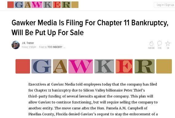 フェイスブック取締役IT富豪の裁判攻勢に「ゴーカー」が破産と身売り 資産防衛でメディア存続狙う