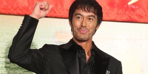 TAIPEI,CHINA - MAY 2:Japanese actors Hiroshi Abe and Aya Ueto promote film Thermae RomaeII on Friday...
