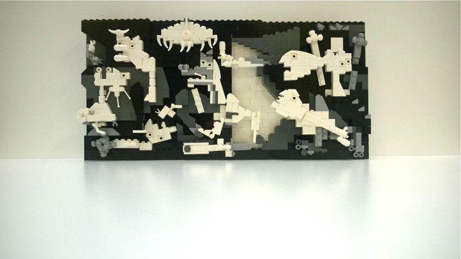 ピカソ133回目の誕生日、レゴで「ゲルニカ」が再現された【画像】