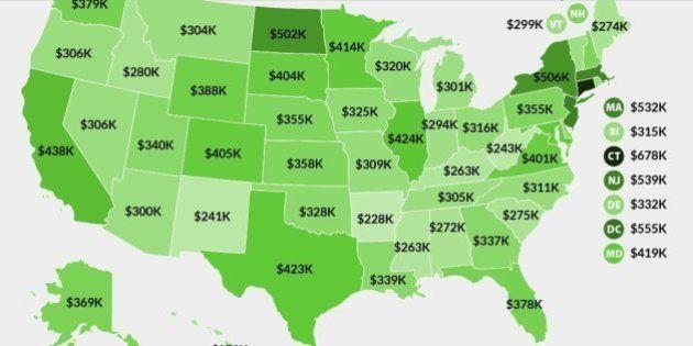 「1%の富裕層」になるためには、アメリカでどれくらい稼げばいいのか(インフォグラフィック)