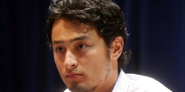 Jul 14, 2014; Minneapolis, MN, USA; American League pitcher Yu Darvish of the Texas Rangers is interviewed...