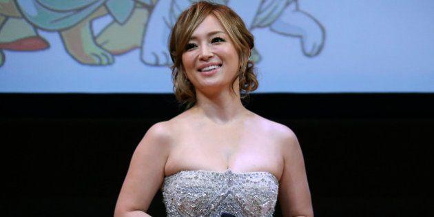 Japanese singer Ayumi Hamasaki attends the world premiere of manga