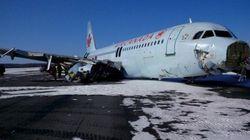 エアカナダA320型機が着陸失敗、20人超負傷 送電線に接触か