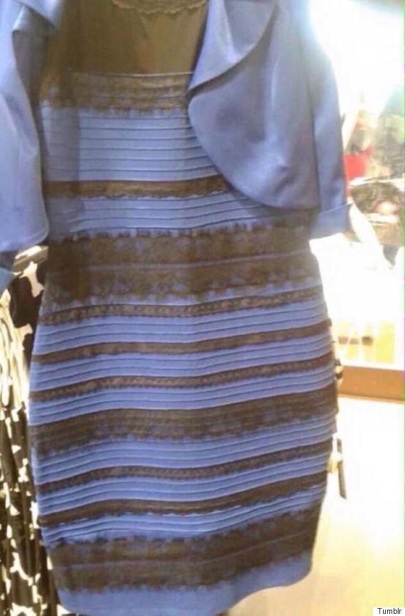 「白と金」「青と黒」あのドレスで意見が分かれる