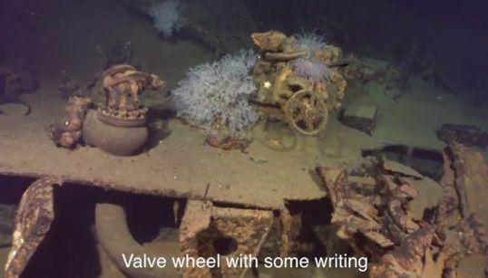 「戦艦武蔵を撮影」ポール・アレン氏が動画公開 46cm主砲の姿も