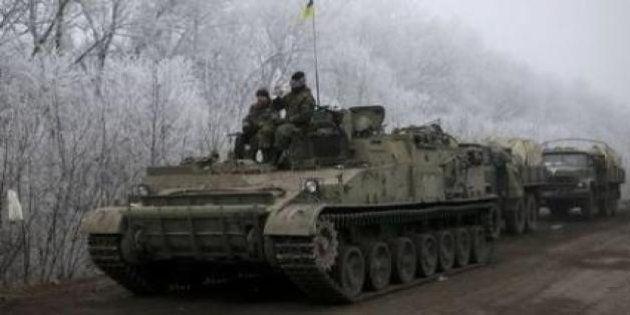 ウクライナ東部、停戦発効後も一部で戦闘継続