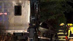ニューヨーク郊外で列車と車が衝突、少なくとも6人死亡