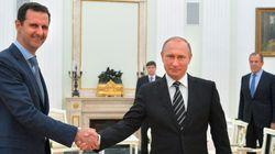シリアのアサド大統領、ロシア電撃訪問 プーチン大統領にIS空爆の謝意伝える
