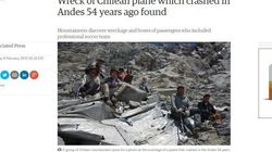 サッカー選手と消えた旅客機、54年ぶり発見 チリのアンデス山脈