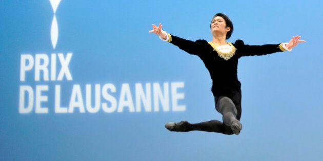 LAUSANNE, SWITZERLAND - FEBRUARY 07: Mitsuru Ito of Japan from Escola de Danca do Conservatorio Nacional,...