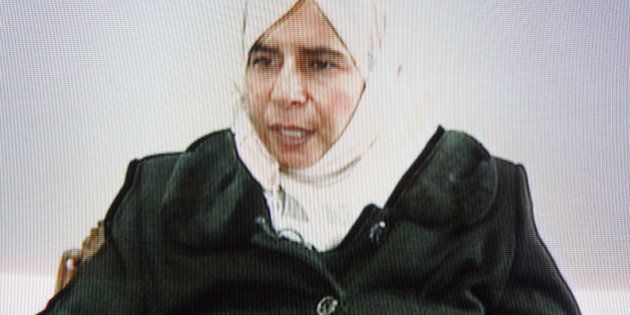 AMMAN, JORDAN - NOVEMBER 13. This frame grab from Jordanian state run TV taken on November 13, 2005 shows...