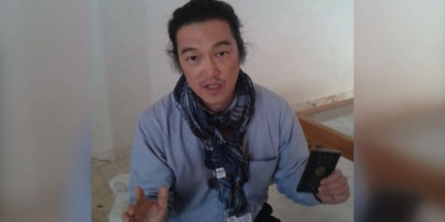 ALEPPO, SYRIA - JANUARY 29 : A frame grab taken from a footage on October 24, 2014, shows Japanese journalist...
