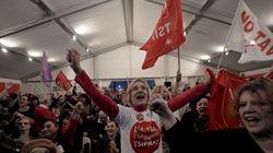 ギリシャ総選挙、緊縮財政に反対する野党が大差の勝利