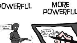 ペンはテロに屈しない 風刺画家は絵で闘う(画像)