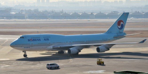 South Korea's Korean Air plane sits on the tarmac at Gimpo airport in Seoul on December 9, 2014. Korean...