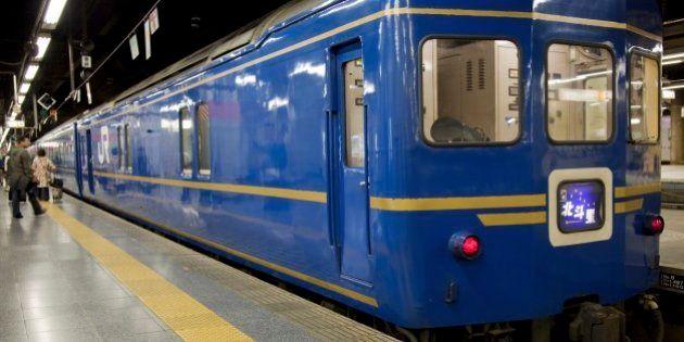 TOKYO, KANTO, JAPAN - 2009/04/29: The Hokutosei or 'North Star' night train plies its way nightly from...