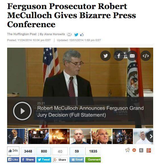 【ニュースで学ぶ英語】ファーガソン事件、検察官の奇妙な記者会見