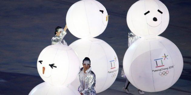 A segment devoted to the 2018 Winter Olympics in PyeongChang, South Korea, is performed during the 2014...