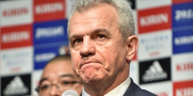Japan's football coach Javier Aguirre attends a press conference to announce Japan Football Association's...