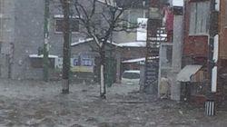 根室は街が浸水 北海道は「数年に一度の猛吹雪」のおそれ【画像】