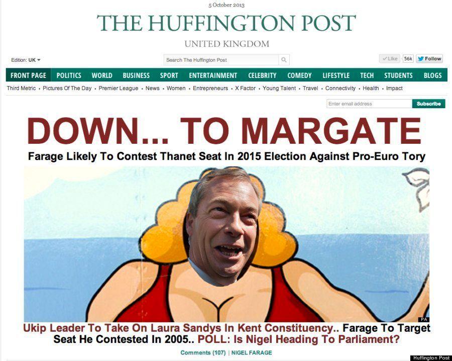 イギリス独立党党首、2015年の総選挙に南東部地区から出馬/ハフィントンポスト各国版