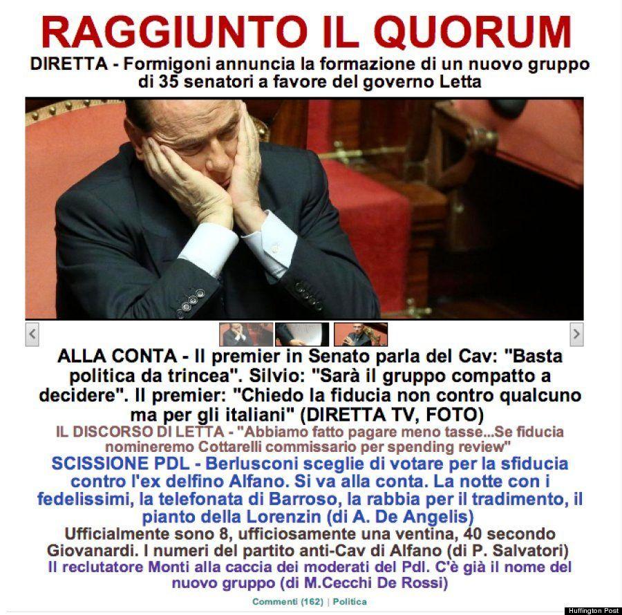 イタリアのレッタ首相政権が信任の見込み/ハフィントンポスト各国版
