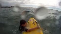 GoProカメラが捉えた! 溺れかけた少年の救出劇【動画】