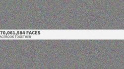 12億人のFacebookユーザーの顔を全部まとめた画像
