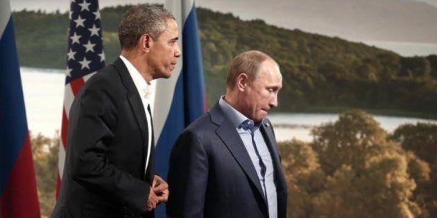【マレーシア機墜落】プーチン氏、オバマ氏と電話会談