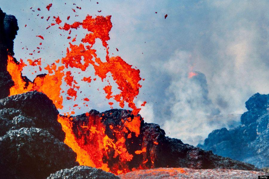 ハワイの壮観な溶岩の画像17選