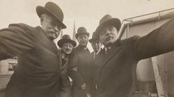 20世紀初頭の自撮り写真が見つかる 大型カメラを手に楽しそう