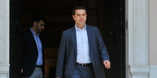 Greece's Prime Minister Alexis Tsipras leaves Maximos Mansion in Athens, Thursday, July 9, 2015. Greece's...