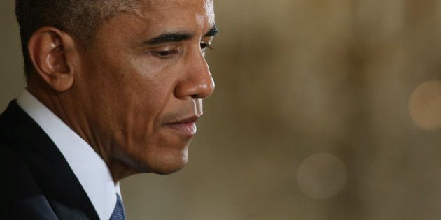 WASHINGTON, DC - NOVEMBER 05: U.S. President Barack Obama pauses while speaking to the media during a...