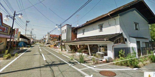 Googleストリートビュー 福島第一原発付近の避難区域内の写真を掲載