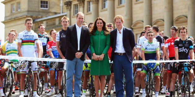 LEEDS, ENGLAND - JULY 05: (l to r) Prince William, Duke of Cambridge, Catherine, Duchess of Cambridge...