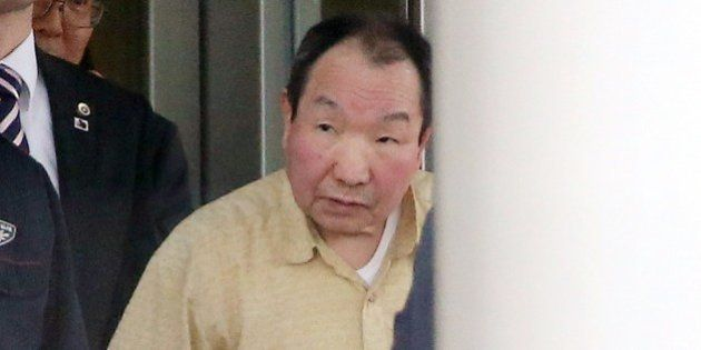 Former boxer Iwao Hakamada, 78, who has been on death row in Japan for 48 years, is released from a Tokyo...
