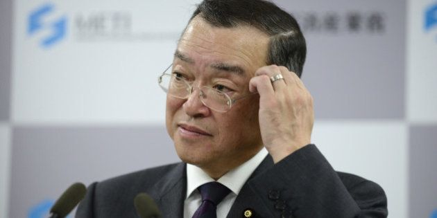 Yoichi Miyazawa, Japan's new trade and industry minister, attends a news conference in Tokyo, Japan,...
