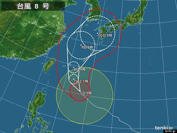 【台風8号】特別警報を発令も 7月8日に猛烈な勢力で沖縄接近