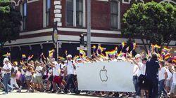 AppleがLGBTの祭典でパレード「受け入れることがイノベーションにつながる」