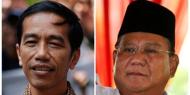 インドネシア大統領選、両陣営が勝利宣言 速報では闘争民主党ウィドド氏、元軍高官プラボウォ氏をリード