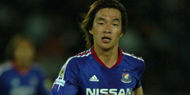 YOKOHAMA, JAPAN - MAY 12: (EDITORIAL USE ONLY) Daisuke Oku of Yokohama F. Marinos in action during the...