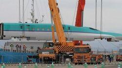 北海道新幹線の車両が函館に初上陸【動画・画像】