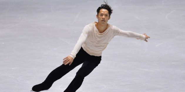 TOKYO, JAPAN - NOVEMBER 09: Daisuke Takahashi of Japan competes in the men's free program during day...