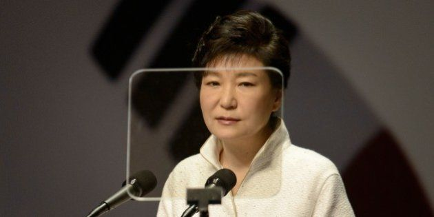 South Korea's President Park Geun-Hye speaks during a ceremony marking the 69th anniversary of the country's...