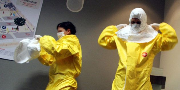 JOHANNESBURG, SOUTH AFRICA - OCTOBER 14: Dr Stefan Kruger and Dr. Juli Switala who have worked with Medecins...