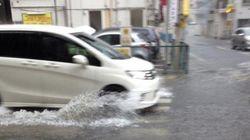 台風18号 水浸しになる駅、人の少ない東京ディズニーランドなど各地の様子【画像】