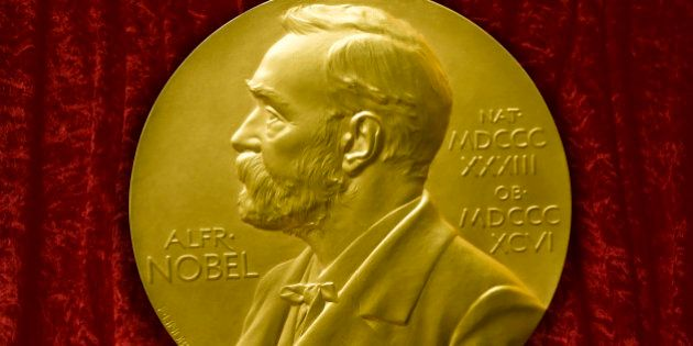 Johannes V. Jensens Nobel Prize winner medal from 1944 (Photo by: myLoupe/Universal Images Group via...