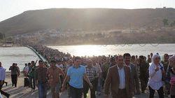 シリアのクルド人がイラクへ大量流入