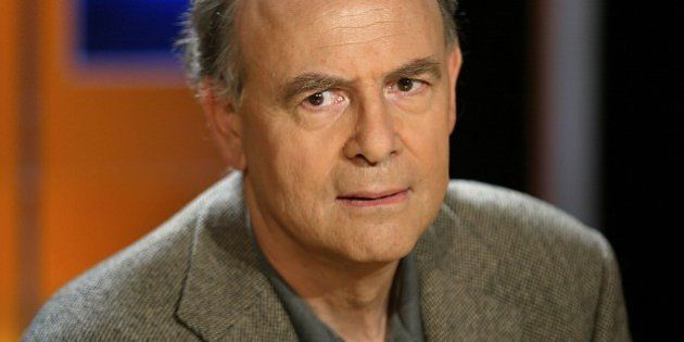 (FILES) A photo taken on October 7, 2003 in Paris shows French writer Patrick Modiano who won the 2014...